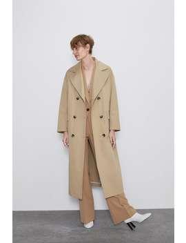 Long Buttoned Trench Coat Coatswoman by Zara
