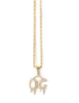 Og Pendant Necklace   Gold by Fashion Nova