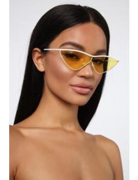 Mystery Girl Sunglasses   Yellow by Fashion Nova