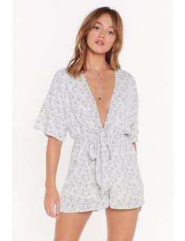 Plant The Seed Floral Tie Playsuit by Nasty Gal