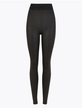 Coated High Waist Leggings by Marks & Spencer