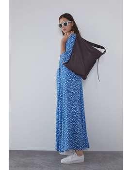 DŁuga Sukienka Z Nadrukiem Zobacz Więcej Sukienki Kobieta by Zara