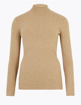 Ribbed Fitted Jumper by Marks & Spencer