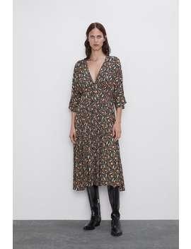 Paisley Print Dress Midi Dresses Woman by Zara