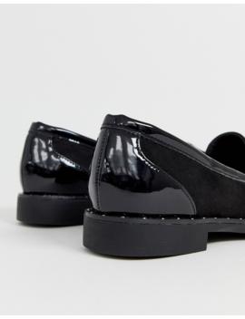 Head Over Heels Gavina Black Stud Tassel Loafer Shoes by Head Over Heels By Dune