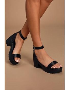 allyn-black-crocodile-embossed-ankle-strap-heels by lulus