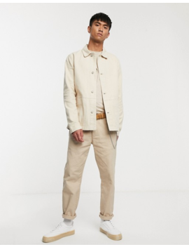 Asos Design Denim Worker Jacket In Ecru by Asos Design