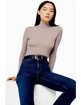 Mesh Funnel Long Sleeve Top by Topshop