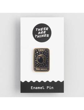Moon Tarot Card Enamel Pin by World Market