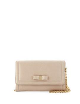 Miss Vara Wallet Mini Bag, Macademia by Salvatore Ferragamo