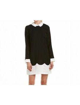 Ce Ce New Black White Womens Size 8 Contrast Scalloped Shift Dress $148 006 by Ce Ce