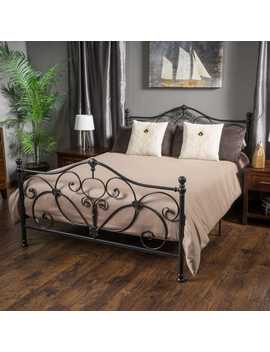 Nathan Dark Gray Iron Queen Bed by Pier1 Imports