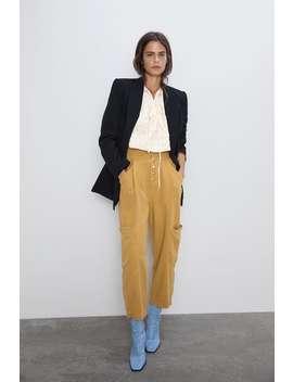 Pantalon Droit En Coton NouveautÉsfemme by Zara
