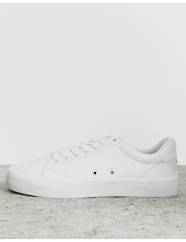 Bershka Sneaker With Text Detail In White by Bershka