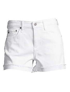 Hailey Slouchy Cuffed Denim Shorts by Ag Jeans