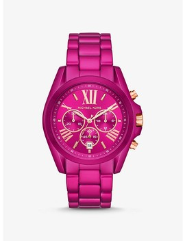 Oversized Bradshaw Pink Tone Watch by Michael Kors