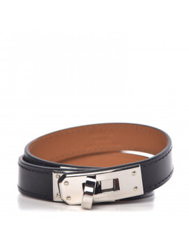 Hermes Box Kelly Double Tour Bracelet S Black by Hermes