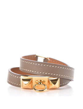 Hermes Swift Rivale Double Tour Bracelet T2 Etoupe by Hermes