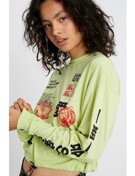 Uo Tokyo Edition Long Sleeve Bubble Hem T Shirt by Urban Outfitters