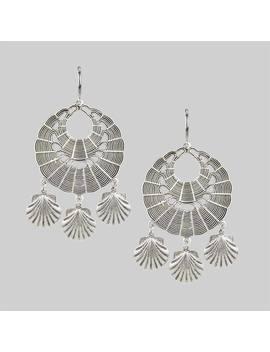 Adira. Shell Dreamcatcher Earrings   Silver by Regalrose