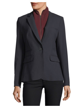 Cashmere Uptown Zip Front Dickey by Veronica Beard