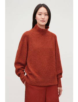 Relaxed Textured Wool Jumper by Cos
