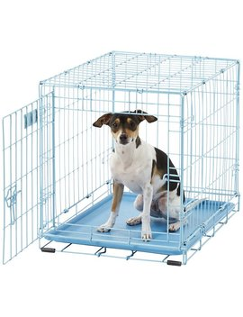 Mid West I Crate Single Door Dog Crate, Blue, 24 In by Mid West
