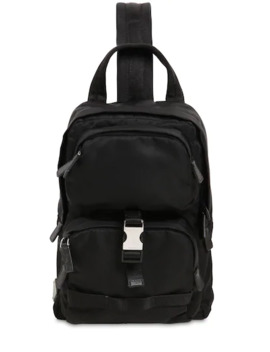 Shoulder Nylon Backpack by Prada