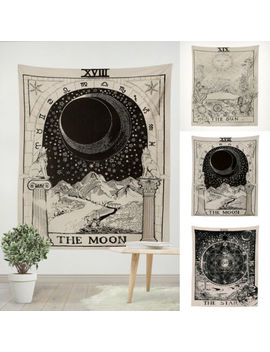 wall-hanging-tarot-tapestry-magical-moon-sun-bedspread-large-tapestry-cover-home by ebay-seller