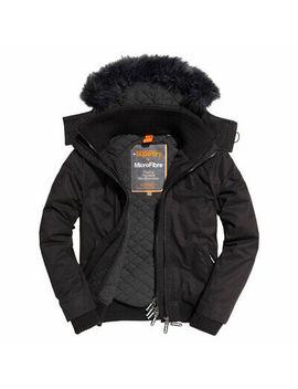 Superdry Mens Microfibre Fur Hooded Windbomber Jacket by Superdry