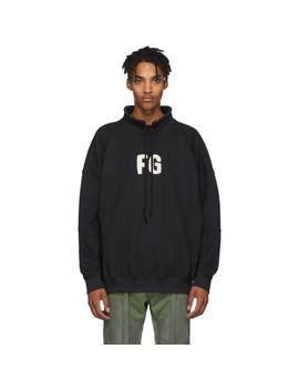 Black Mock Neck 'fg' Sweatshirt by Fear Of God