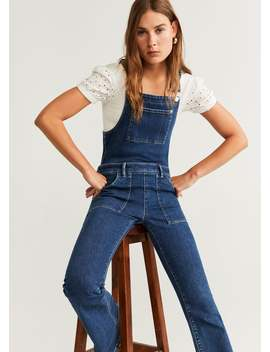 Flared Denim Dungarees by Mango