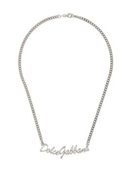 Kedjehalsband Med Logotyp by Dolce & Gabbana