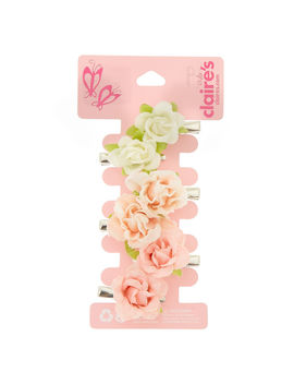 Claire's Club 6 Pack Floral Hair Clips by Claire's