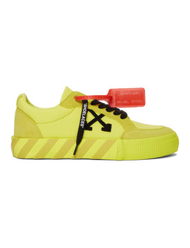 Ssense Exclusive Yellow Low Vulcanized Sneaker by Off White