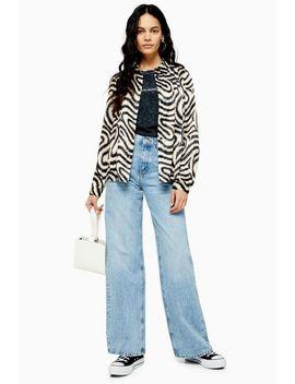 Bleach Slim Wide Jeans by Topshop