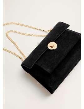 Кожаная сумка с цепочкой by Mango