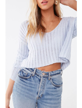 Off The Shoulder Cropped Sweater by Forever 21