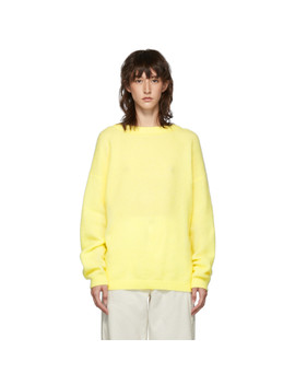 Yellow Dramatic Mohair Sweater by Acne Studios