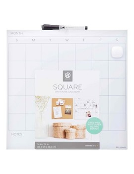 "Ubrands® Dry Erase Calendar Tile Unframed 14""X14"" White by Shop This Collection"