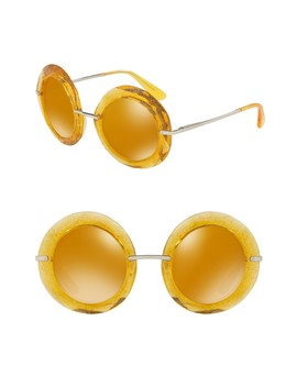 50mm Round Sunglasses by Dolce & Gabbana