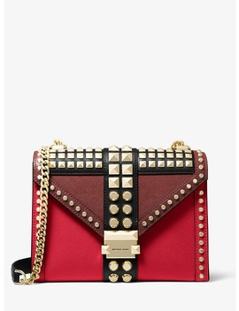 Whitney Large Studded Saffiano Leather Convertible Shoulder Bag by Michael Michael Kors