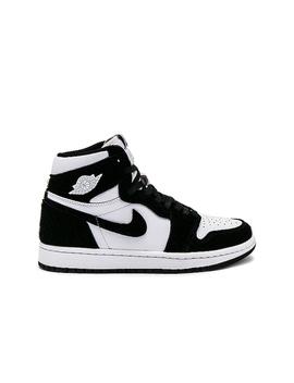Air Jordan 1 High Og Sneaker In Black, Metallic Gold & White by Jordan