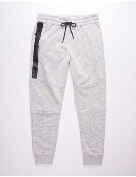 Brooklyn Cloth Heat Zip Light Gray Mens Jogger Pants by Brooklyn Cloth