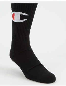 Champion Big C Black Mens Crew Socks by Champion
