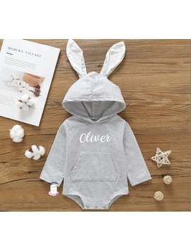Cute Personalised Little Girls Bunny Outfit, Rose Gold, Bunny, Baby Shower, Newborn, Birthday Gift, Mum To Be, Baby Shower by Etsy