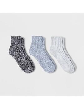 Women's 3pk Slub Ankle Socks   Universal Thread One Size by Universal Thread One Size
