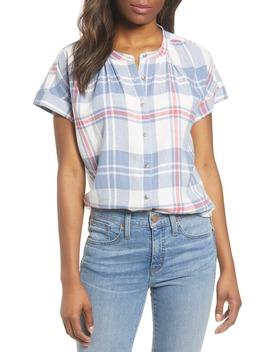 Woven Linen Blend Camp Shirt by Caslon®