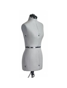 Family Dressform Fm S Family Small Adjustable Mannequin Dress Form Grey by Family Dressform