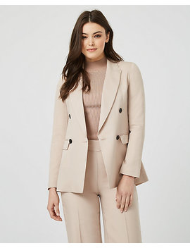 Lyocell Double Breasted Tailored Blazer by Le Chateau
